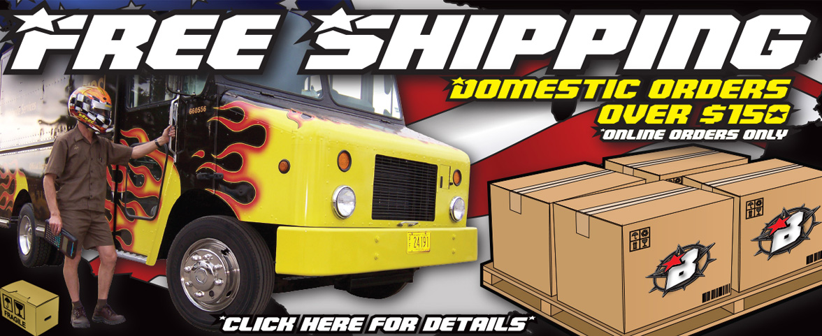 Free Domestic Shipping for orders over $150.00