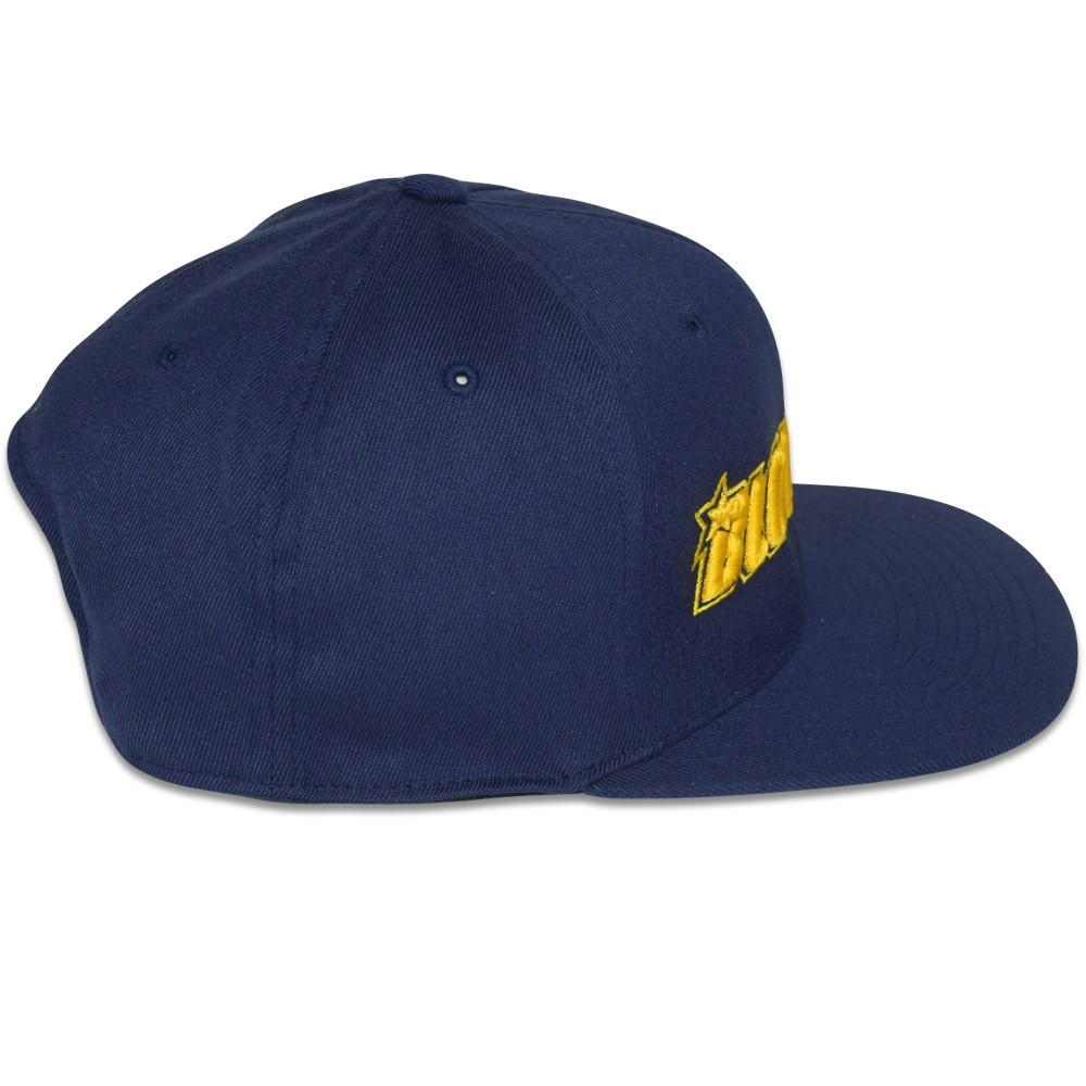 dfdf6f857c75b7 Blowsion. Blowsion FlexFit One Ten Snapback Hat - Navy/Gold