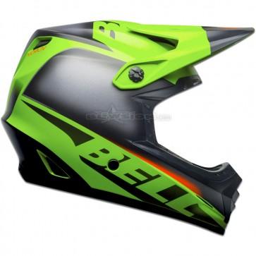 Bell Full-9 Fusion Helmet - Matte Green / Black / Crimson