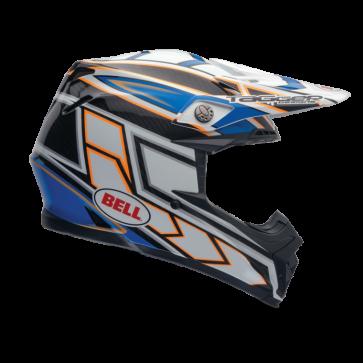 Bell Moto-9 Carbon Helmet - Clash Blue