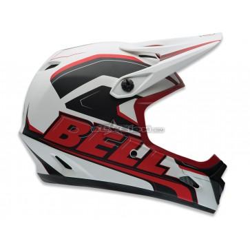 Bell Transfer-9 Freeride Helmet - Matte White/Red Setup