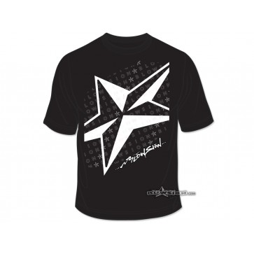Blowsion 5-Star T-Shirt - Black - Front View