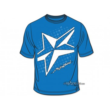 Blowsion 5-Star T-Shirt - Sapphire Blue - Front View