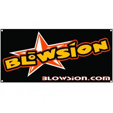 Blowsion Banner - Orange/White