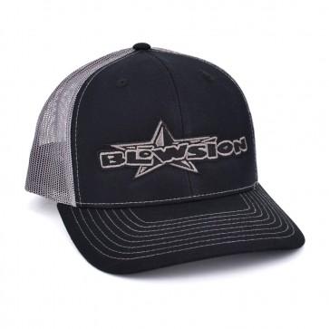 Blowsion Classic Snapback Hat - Black/Charcoal