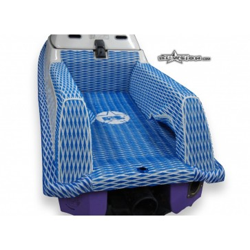 Yamaha FX1 with Diggers - Color: Dual Layer Diamond - Royal Blue/White - White Logo