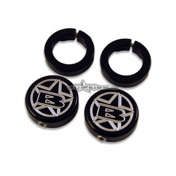 ODI Blowsion Lock Ring End Caps - Anodized Black