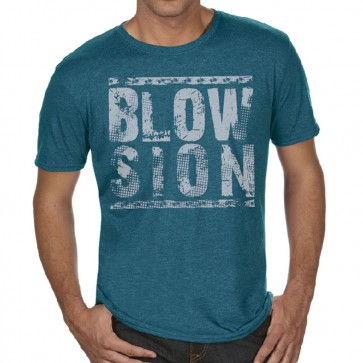 Blowsion Stacked T-Shirt Blue