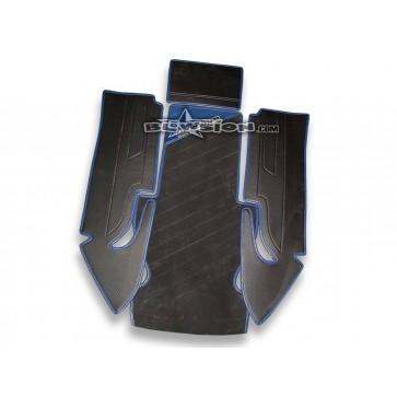 Mat Kit - Stitched - Kicker Footwells - Yamaha 1990-1995 Superjet