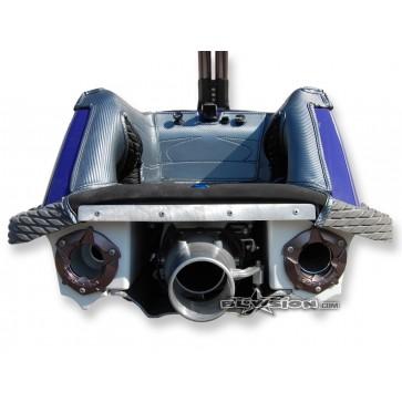 Mat Kit - Kickers - 1996+ Yamaha Superjet - Bottom: Naugahyde Black - Sides/Dash: Carbon Gun-Metal - Trim: Carbon Gun-Metal