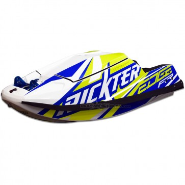 Rickter Edge FS / FR Hull - Blue / Neon Yellow