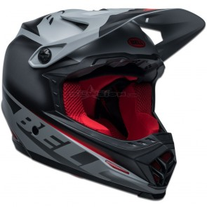 Bell Full-9 Fusion Helmet - Matte Black / Grey / Crimson