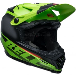 Bell Full-9 Fusion Helmet - Matte Green / Black / Crimson