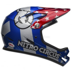 BELL SANCTION HELMET NITRO CIRCUS GLOSS SILVER/BLUE/RED