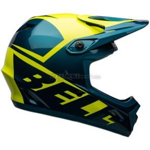 Bell Transfer Helmet - Slice Gloss Blue / Hi-Viz