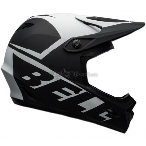 Bell Transfer Helmet - Slice Matte Black / White