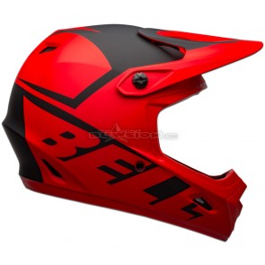 Bell Transfer Helmet - Slice Matte Red / Black