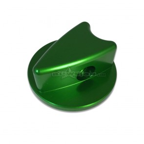 Kawasaki Billet Dash Knob - Anodized Green