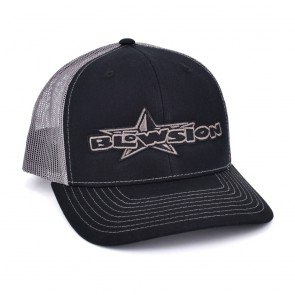 Blowsion Classic Snapback Hat - Black/Charcoal