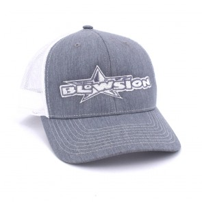 Blowsion Classic Snapback Hat - Grey/White