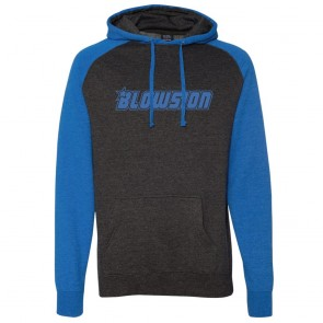 Blowsion Hooded Pullover Sweatshirt - Charcoal / Royal