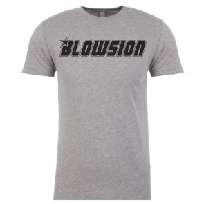 Blowsion Corporate T-Shirt - Grey with Black Logo (Front)