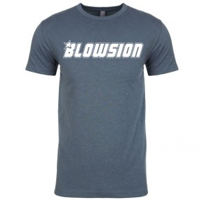 Blowsion Corporate T-Shirt - Indigo with White Logo (Front)