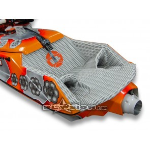 Mat Kit - Revolver Hull - Dual Layer Diamond - Grey/White - Orange Logo