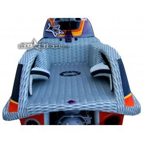 Mat Kit - Hydro Turf - Rickter FR2 / FS2 - Dual Layer Diamond - Grey/White - Black Logo