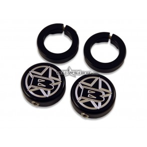 ODI Blowsion Lock Ring End Caps - Anodized Black