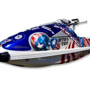 Side Rail Hydro-Turf Kit - Superjet - White Waffle