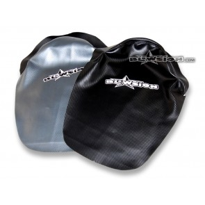 Chin Pad Cover - Staple On - 95-Older SJ - Front: Gun-Metal Carbon / Back: Carbon Black
