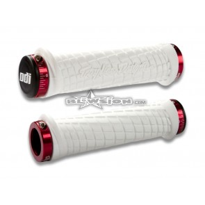ODI TLD Grip Set - White/Red - PN# 03-05-325