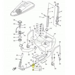 OEM Yamaha Vent Filter Assembly