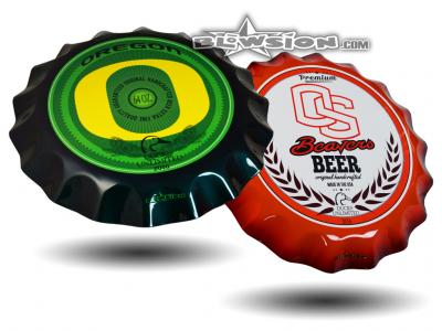 Blowsion Custom Painted Oregon State Ducks Unlimited Charity Auction Beer Wall Cappers
