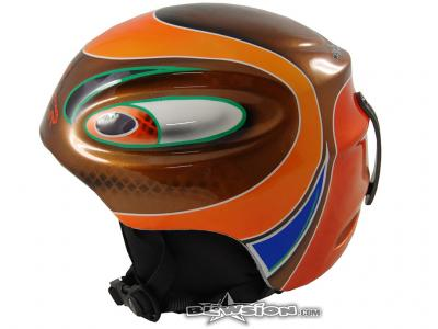 Blowsion Custom Paint - Oregon State - charity downhill helmet