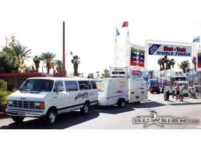 Blowsion display van and trailer 1991 Lake Havasu World Finals