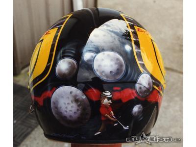 Blowsion Bell Helmet Paint- Pro Golfer Bob Gilder - 1996