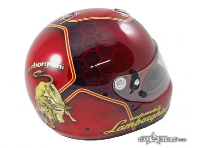 Blowsion Custom Paint - ARAI GP 6 Racing Helmet - Lamborghini Design