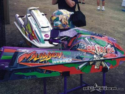 Blowsion display- 2001 Lake Havasu World Finals - Jettrim Booth