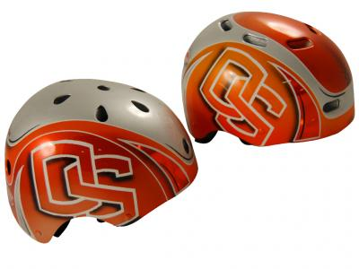 Blowsion Custom Paint - Oregon State - charity bicycle helmet 1