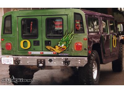 Blowsion Custom Painted U of O Ducks Hummer- 1999 - first edition