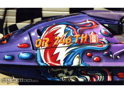 "Blowsion Custom Painted - Square Nose Deadhead--- rest in peace Rob ""Twardzik"" Blackman"