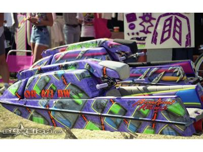 Blowsion Custom Painted 440's- Lake Havasu Jettrim Display 1991