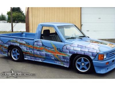 Blowsion Custom Painted Toyota Lowrider - Gnoel Gnipples Special Editions - 1994