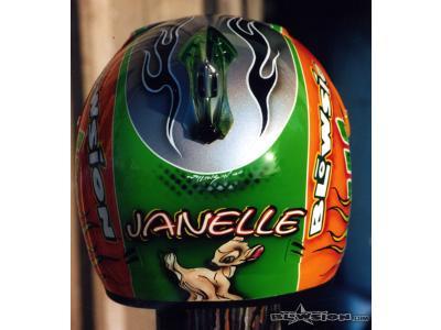 Blowsion Pro Womens Ski Racer Janelle Barr Helmet