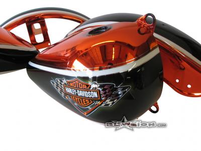 Mudfish Chrome Painted Harley Davidson