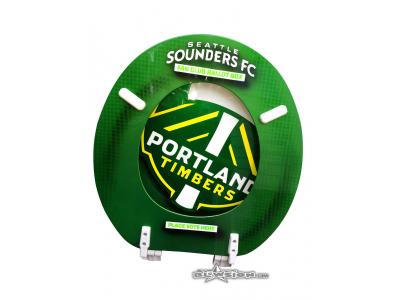 Blowsion Custom Painted Timbers/Eastside Soccer Club Auction Toilet Seat