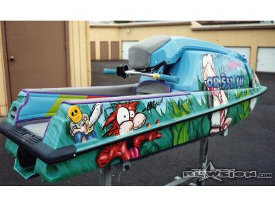 Blowsion Custom Painted Bloom County Cartoon Theme Kawi 550 - 1993