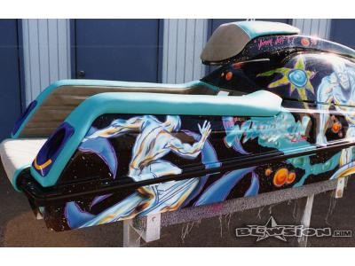 Blowsion Custom Silver Surfer Cartoon Theme Kawi 750 - 1993